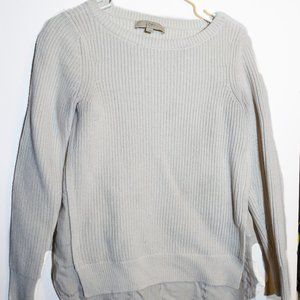 LOFT Cream Two in One Sweater -used